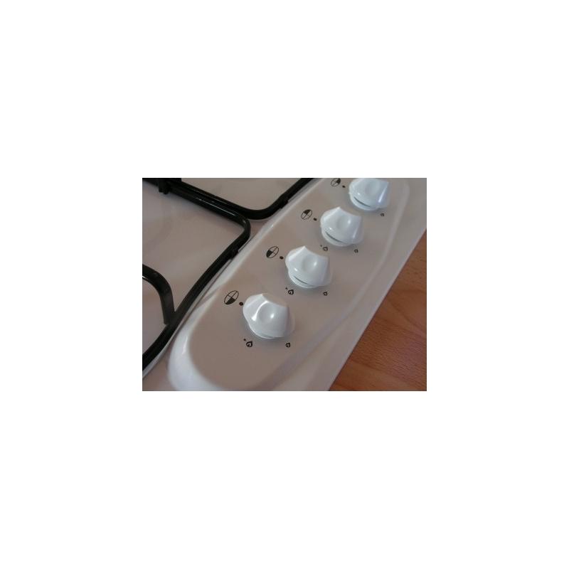 Bouton blanc plaque de cuisson gaz for Mesure plaque de cuisson