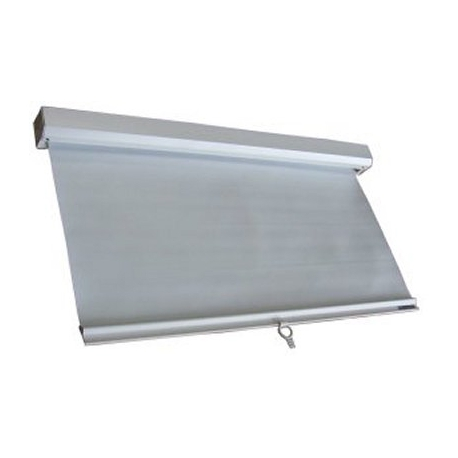 Store pvc blanc 555x960 mm avec patte de fixation for Store occultant fenetre pvc